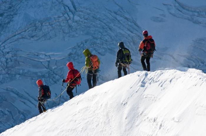 alpinisme en cordée