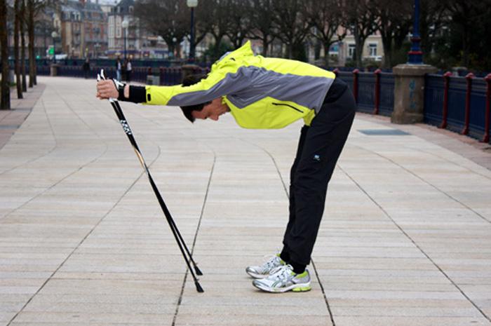 Etirements bas du dos après une séance de marche