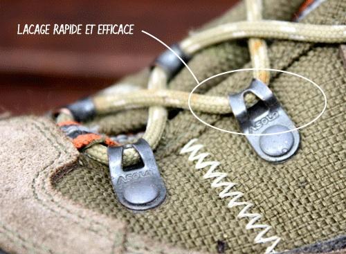 Laçage chaussure de randonnée