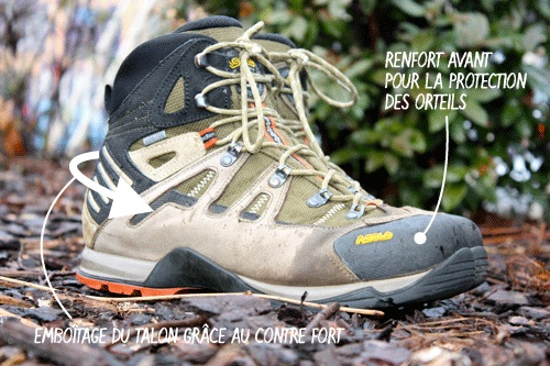 Renfort chaussure de randonnée